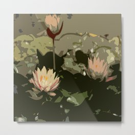 Waterlily Abstract Metal Print