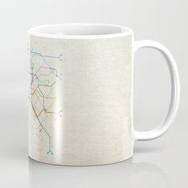 Minimal Paris Subway Map Coffee Mug