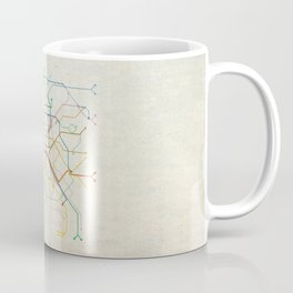 Minimal Paris Subway Map Coffee Mug