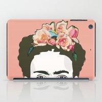 frida iPad Cases featuring Frida by Amanda Corbett