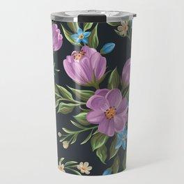Beautiful retro flower seamless pattern Travel Mug
