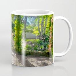 Secret Garden - Looking towards the sun from inside an ivy-covered pagoda. Coffee Mug