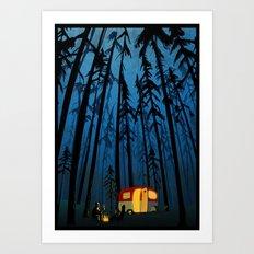 twilight camping Art Print