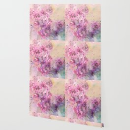 Lilac flowers Watercolor hand painted illustration  Wallpaper