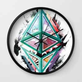Ethereum Logo Abstract 01 Wall Clock