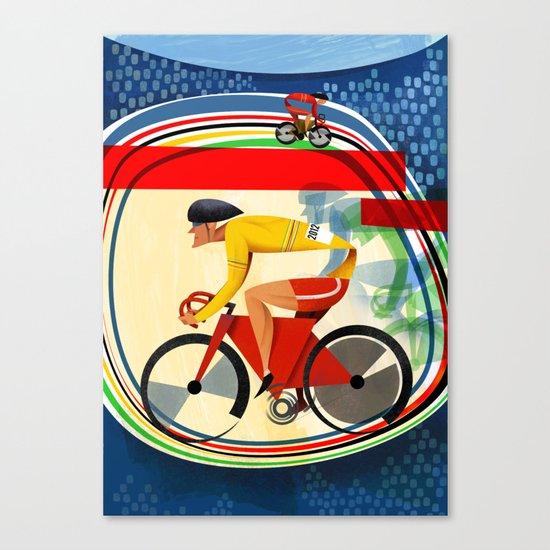 Track Cycling Championship Poster Cycle Bike Canvas Print