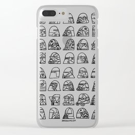 Many helmets Clear iPhone Case
