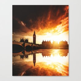 london reflections Canvas Print
