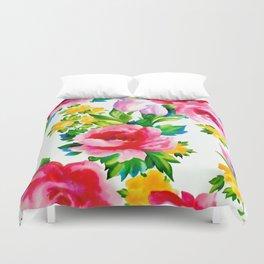 Watercolor Roses Duvet Cover