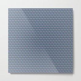 Turquoise mermaid texture Metal Print