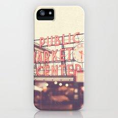 6:20. Seattle Pike Place Public Market photograph Slim Case iPhone (5, 5s)