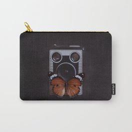 Vintage Camera with Orange Butterfly Carry-All Pouch
