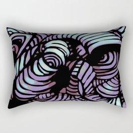 Purple Swirl Rectangular Pillow