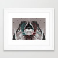 millenium falcon Framed Art Prints featuring millenium by torbergson