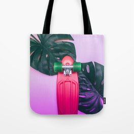 skateboard and palm leves Tote Bag
