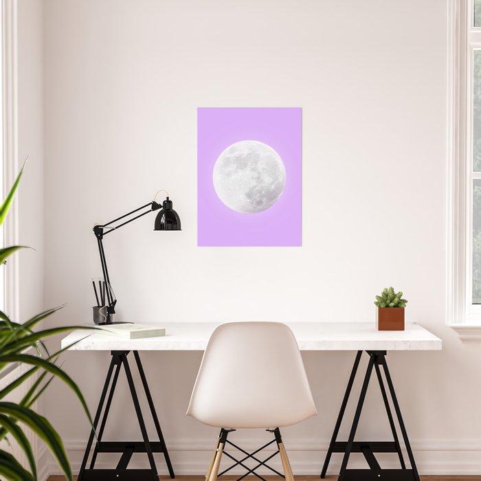 WHITE MOON + LAVENDER SKY Poster