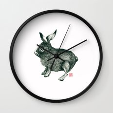 Cold Rabbit Wall Clock