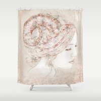 capricorn Shower Curtains featuring Capricorn  by Ellen Macintyre