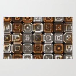 Geometric chocolate pattern Rug