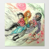 superwholock Canvas Prints featuring Death and All Her Resting Lovers by Christine Eglantine