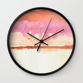 Sunset Skyline Abstract Wall Clock