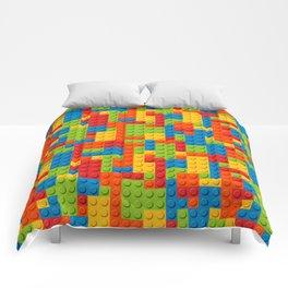 Bricks geometric pattern Comforters