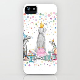 PARTY WEIMS iPhone Case