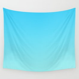 Simply sea blue teal color gradient - Mix and Match with Simplicity of Life Wall Tapestry