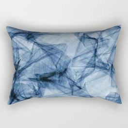 Fifty Shades of Shattered Blue Rectangular Pillow