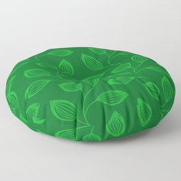 Climbing Leaves In Sage Green and Lime Floor Pillow