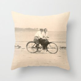 Love on a Bicycle Throw Pillow