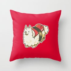 Alpaca Sushi Niguiri III Throw Pillow