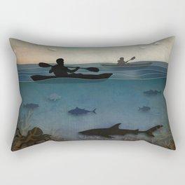 Sea Kayaking Rectangular Pillow