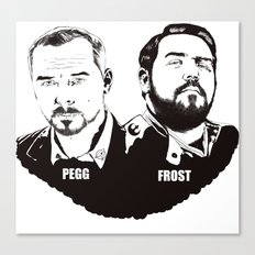 Simon Pegg & Nick Frost Canvas Print