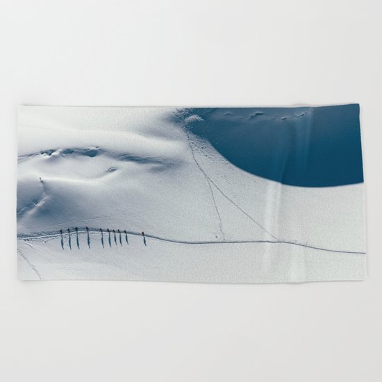 Mountain trace  Beach Towel