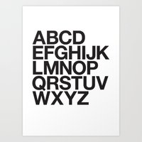 helvetica Art Prints featuring helvetica by Cheese Alien