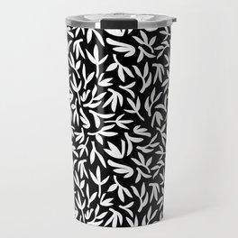 White Leaves Travel Mug