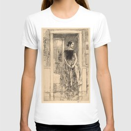 Childe Hassam - Girl in a Modern Gown T-shirt