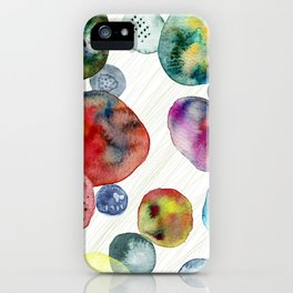 Colorful watercolor abstract phone cover iPhone Case