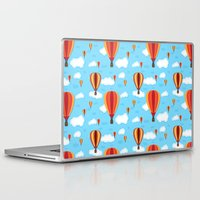 hot air balloons Laptop & iPad Skins featuring Hot Air Balloons by velourvelvet