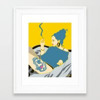 smoking Framed Art Prints featuring Smoking by YTRKMR