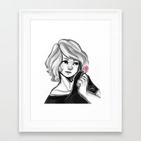 cyarin Framed Art Prints featuring Pink Candy by Cyarin