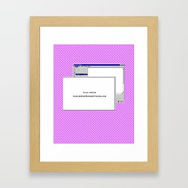 WWW. Framed Art Print