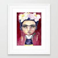 jane davenport Framed Art Prints featuring Little Frida by Jane Davenport by Jane Davenport