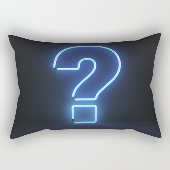 Question Mark (Neon) Rectangular Pillow