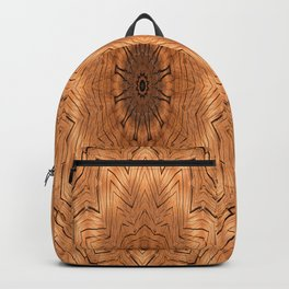 Wooden Flower Ring kaleidoscope Backpack