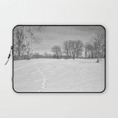 Footprints in the snow Laptop Sleeve