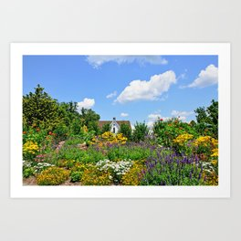 Summer Garden Deluxe Art Print