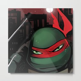 TMNT Red Night Metal Print