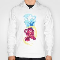 airbender Hoodies featuring Steven Universe x Avatar The Last Airbender by Matereya